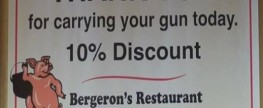 Have Gun Will Discount, Restaurant Offers Discount For Gun Carrying Patrons